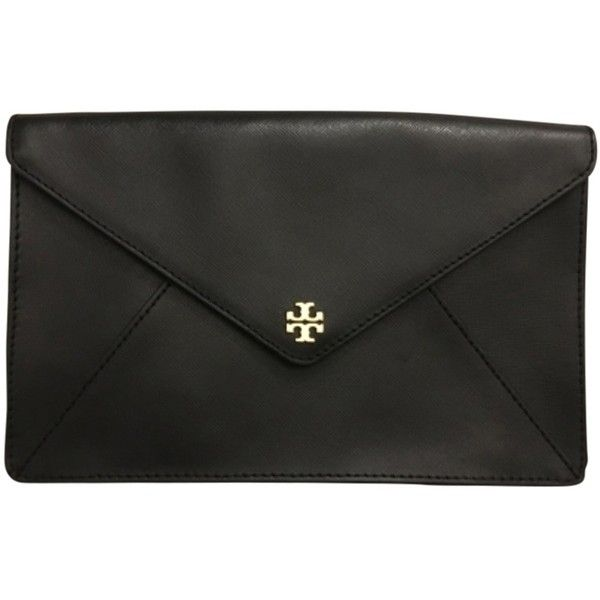 heart sunglasses Pre owned Tory Burch Robinson Envelope Black Clutch  335 AUD
