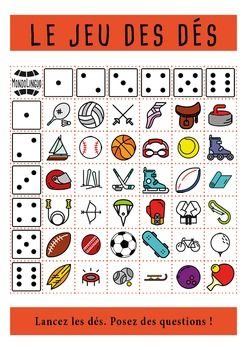 FFL/FSL - Games to teach French - Dice Game - Sport