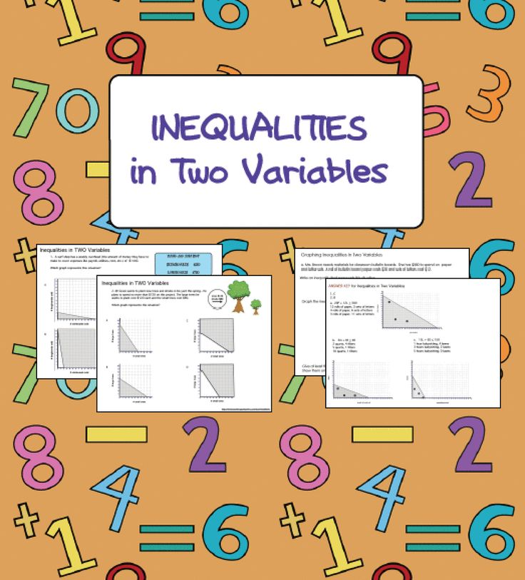 Inequalities great worksheets for graphing and solving