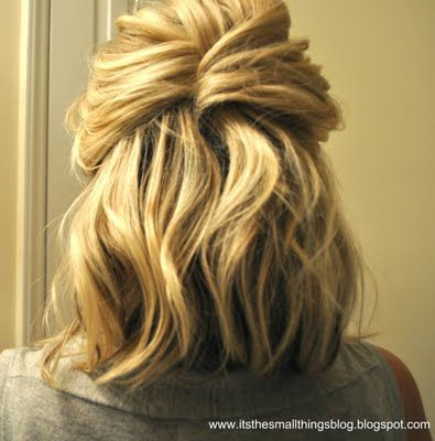 I like this hairstyle..so cute!