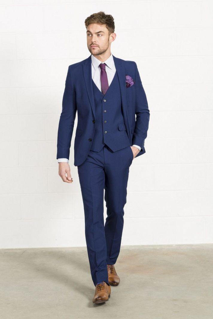 Wedding Guest Suit Navy Blue Traje Azul Hombre Traje De Novio Azul Ropa De Hombre