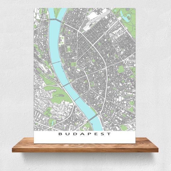 Budapest map print featuring the historic and beautiful city of Budapest, Hungary. Find your favourite places on this Budapest city map! This map print shows buildings. Buildings help you find attractions like the Castle Hill and the Parliament Buildings.  PRINT ONLY (frame/mat is not included) * Digital downloads not available. _________________ TITLE * Want the text title removed? * No problem - leave a note at checkout. _________________ BORDER Map design will be exactly the print size…