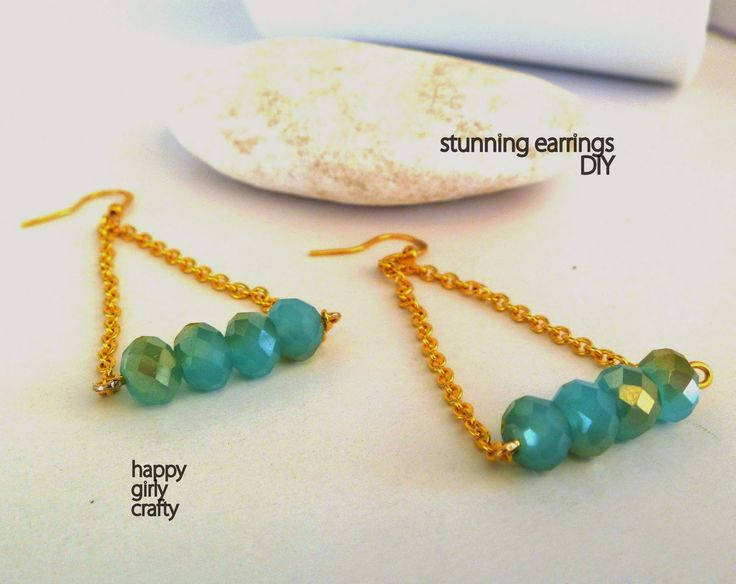happy girly crafty: stunning earrings diy