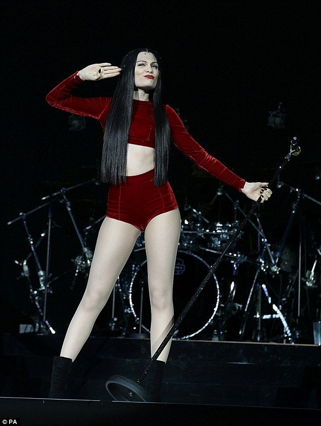 Born to perform! Jessie J on stage at the Capital Radio Jingle Bell Ball in London on Sund...