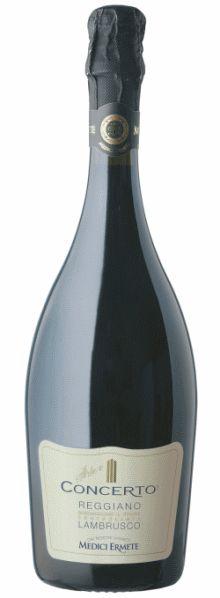 Lambrusco Concerto Medici Ermete & Figli, um vinho para ser bebido jovem, com uma duração máxima de 2 anos.