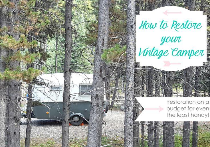 How to restore a vintage camper on a budget - Boler remodel
