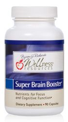 Super Brain Booster is a combination of Acetyl-L-Tyrosine, Alpha GPC, Vinpocetine, and organic Bacopa extract. These nutrients are potent activators to support cognitive performance and memory. Optimize memory and mood with this outstanding new supplement.