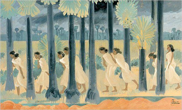 """New Clouds"" (1937) by Nandalal Bose via oldindianarts"