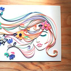 Simple strips of colored paper, inspired by Pantone's 2012 Spring/Summer colors, turned into a beautiful Spring portrait.