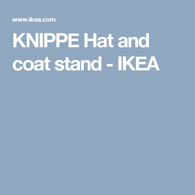 KNIPPE Hat and coat stand - IKEA