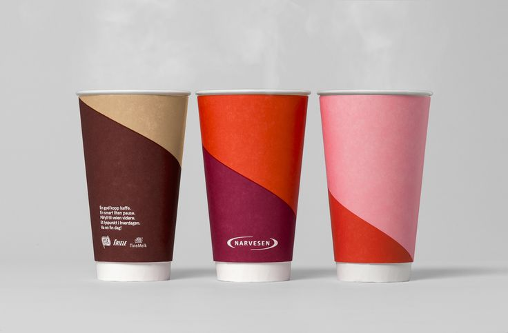 Cups for coffee concept Narvesen designed by BVD. #norwegiandesign