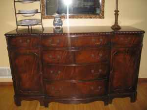 Drexel 1944 Mahogany buffet chippendale style antique appraisal | InstAppraisal