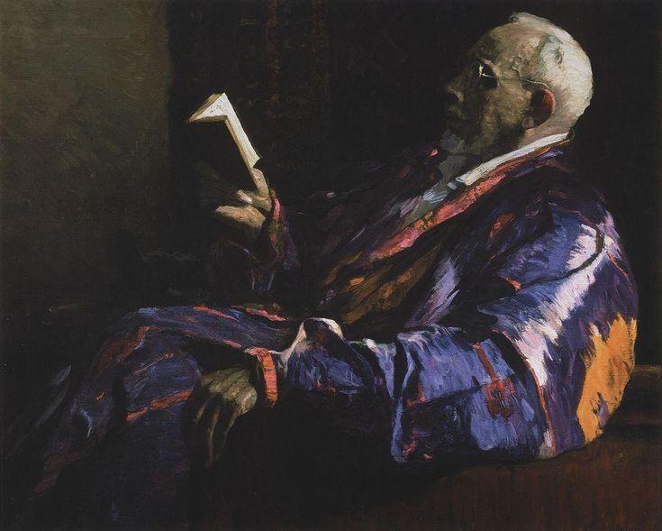 Портрет академика, биолога А.Н.Северцова. 1934