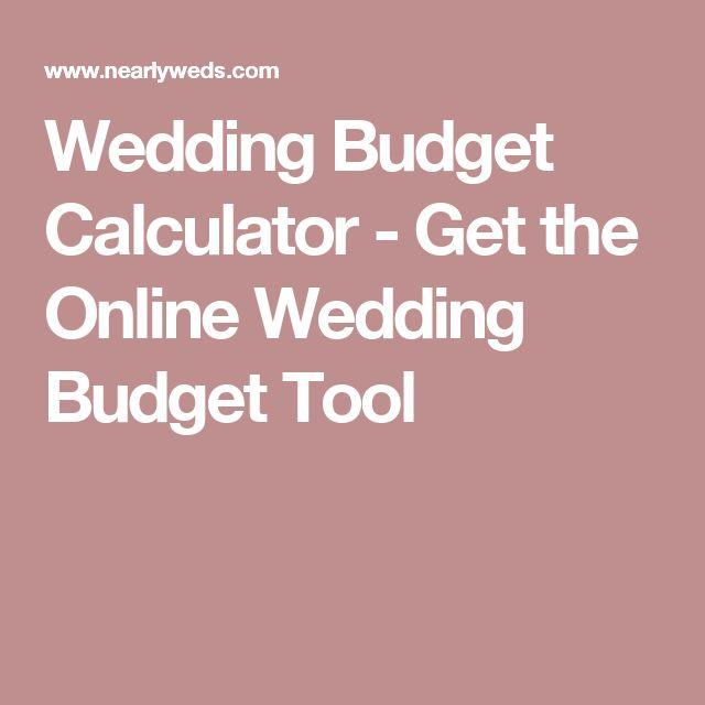Wedding Budget Calculator - Get the Online Wedding Budget Tool