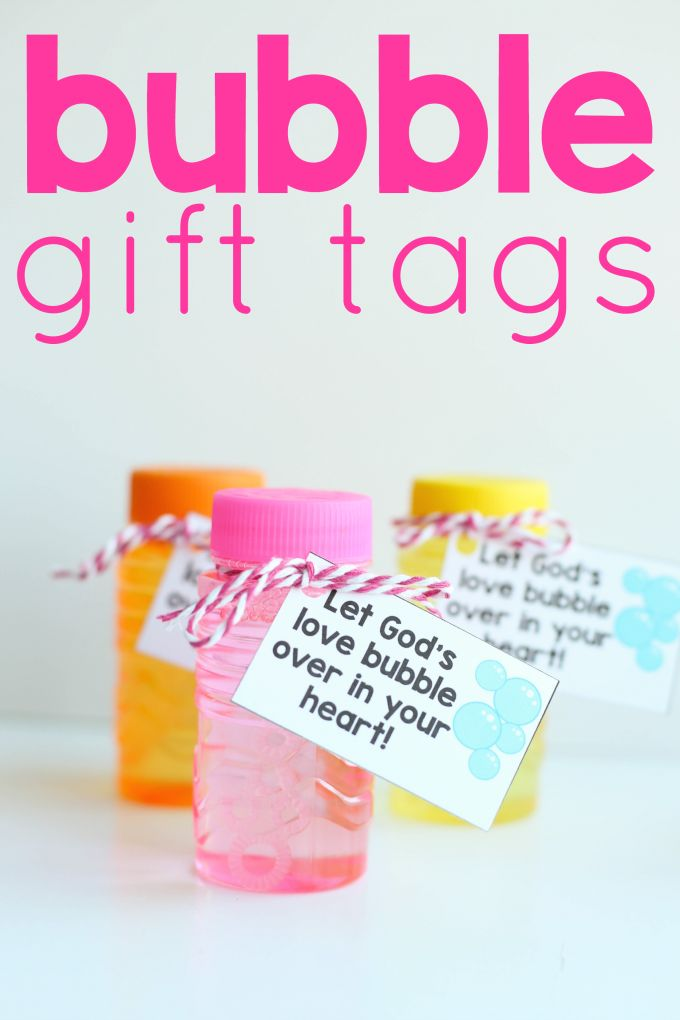 Bubble Gift Tags Let God S Love Bubble Over Labels