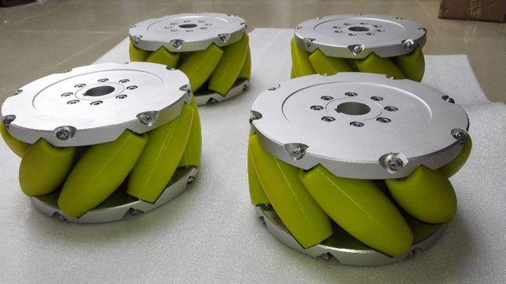 A Set Of 12 inch (305mm) Heavy Duty Industrial Mecanum Wheel Nm305A. Nexus Industry Omni wheel & Mecanum wheel is heavy load Omni wheel and Mecanum wheel