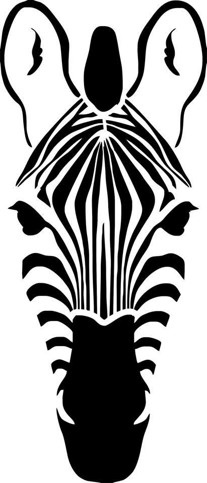 Stencil stencil 'Zebra head' by DuMazelfrenchstencil on Etsy