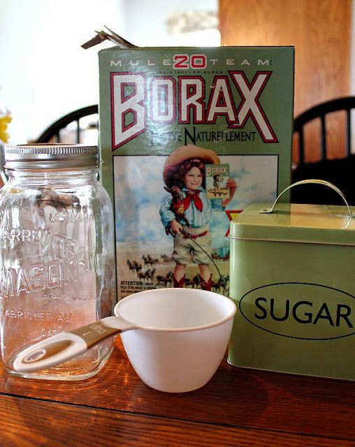 Ant Killer: 1 cup of sugar 1/2 cup of water 1 Tablespoon of Borax.