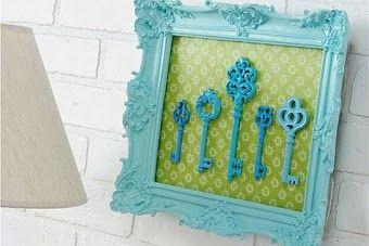 Transforme as chaves velhas em decoração - Veja dicas do que fazer com as peçinhas metálicas que ficam guardadas sem utilidade