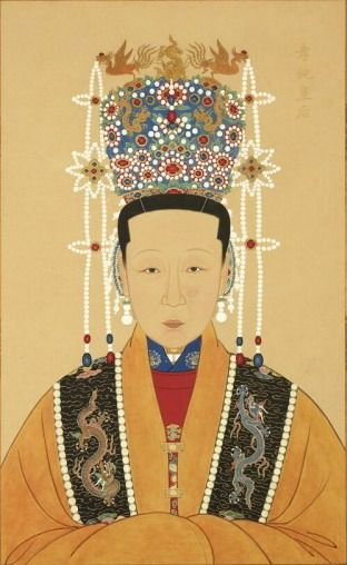 Consort Seventh Grade Xiaochun,consort of Emperor Taichang of Ming (1582-1620)  posthumously created Empress   Dowager