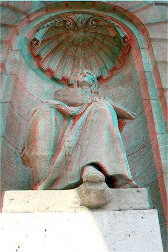 This is a statue of Franz Liszt at the Budapest Opera House, from 3DPhotoExplorer.com