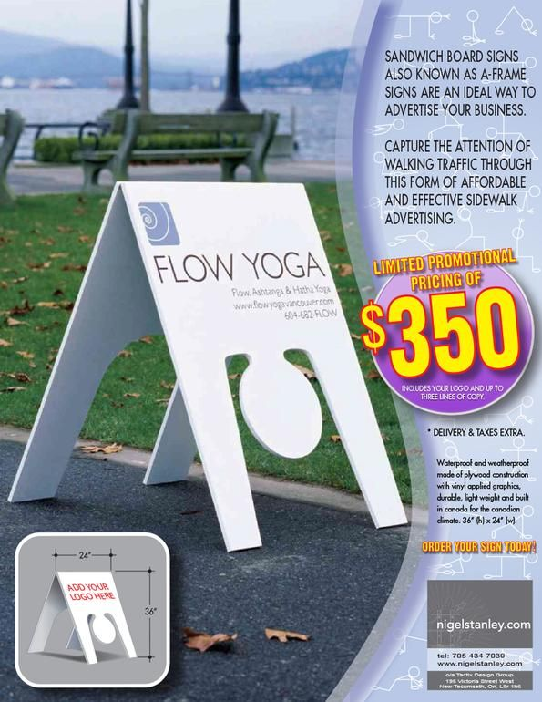 Order Your Yoga Sandwich Board Sign