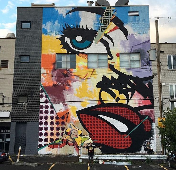 New street art by sen2figueroa found in montreal canada for Art mural montreal