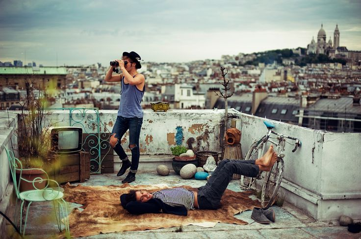 Paris rooftop, photo: Theo Gosselin