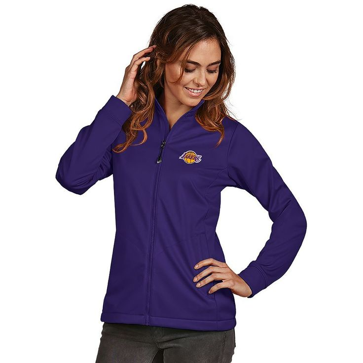 Women's Antigua Los Angeles Lakers Golf Jacket, Size: Medium, Drk Purple