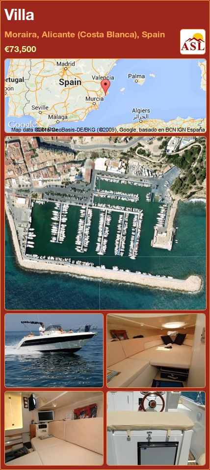 Villa in Moraira, Alicante (Costa Blanca), Spain ►€73,500 #PropertyForSaleInSpain