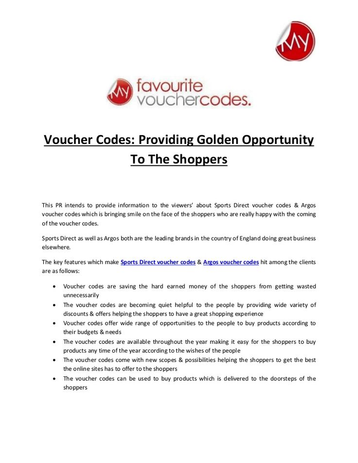 Voucher Codes Providing Golden Opportunity To The Shoppers - how to make a voucher