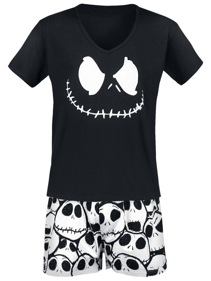 The Nightmare Before Christmas Jack Skellington Pyjama black S