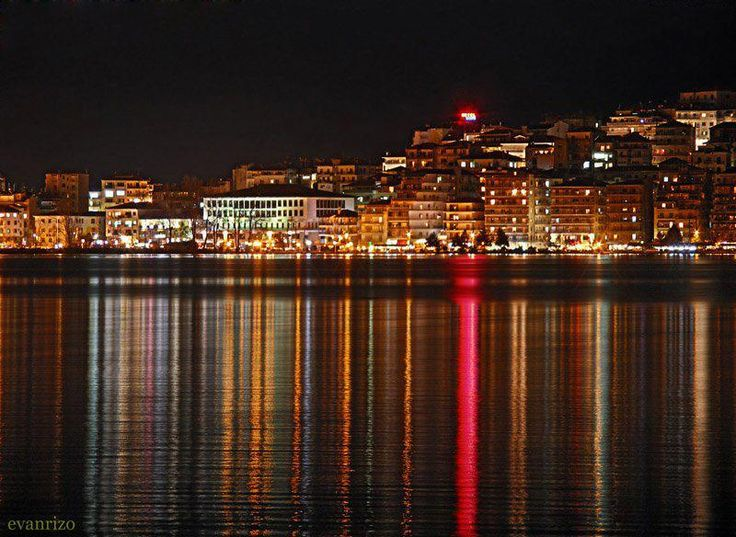 Macedonia Greece-=  Kastoria by night