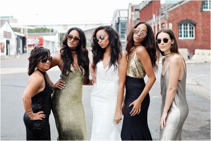 Real Wedding - A bridal party that pretty much slayed #squadgoals