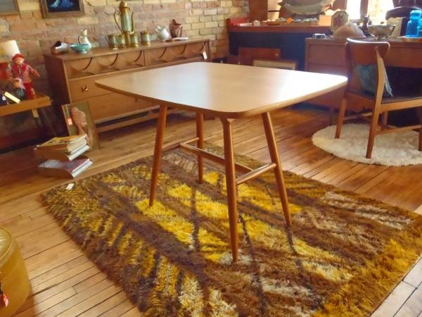 Minneapolis Mid Century Danish Modern Retro Dining Table 120