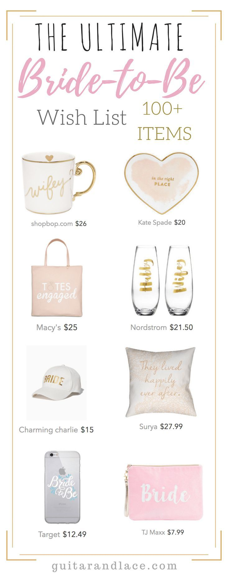 The ultimate gift guide for the bride! Celebrate your engagement in style.