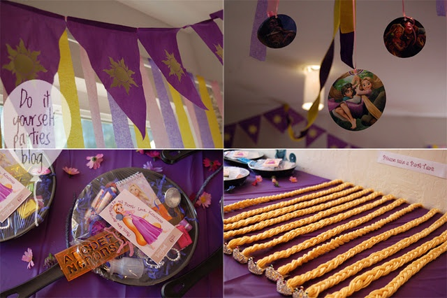 DIY Rapunzel Tangled favors and party ideas