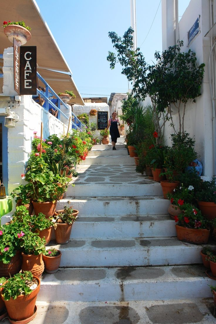 Streets of Aegina Island, Greece