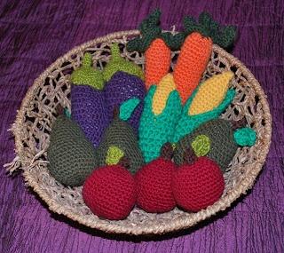 Virkatut vihannekset - Crochet vegetables.