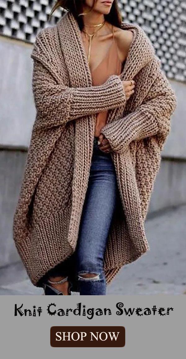 Fashion Pure Colour Long Sleeve Sweater