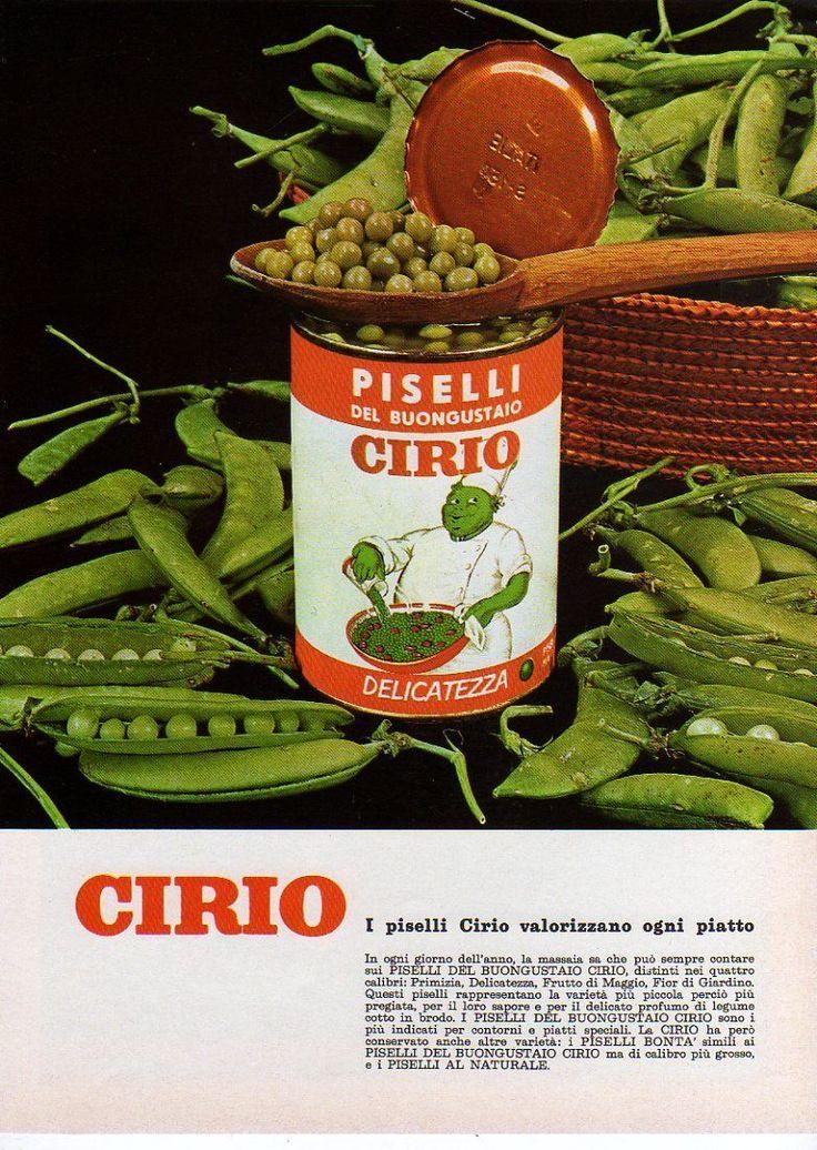 Pubblicità 1965 Piselli Cirio