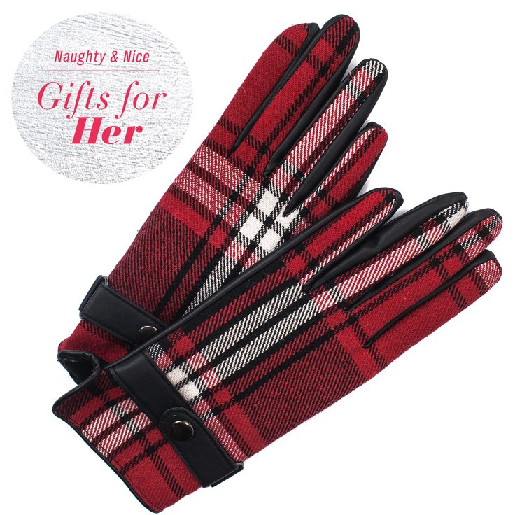 Give these chic plaid driving gloves to your favourite driver, or fashionista!