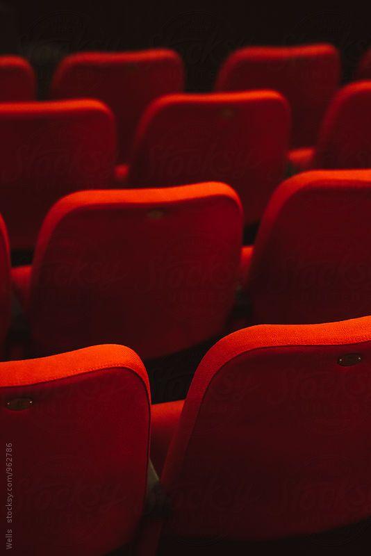 red cinema or theatre empty seats by Juri Pozzi for Stocksy United