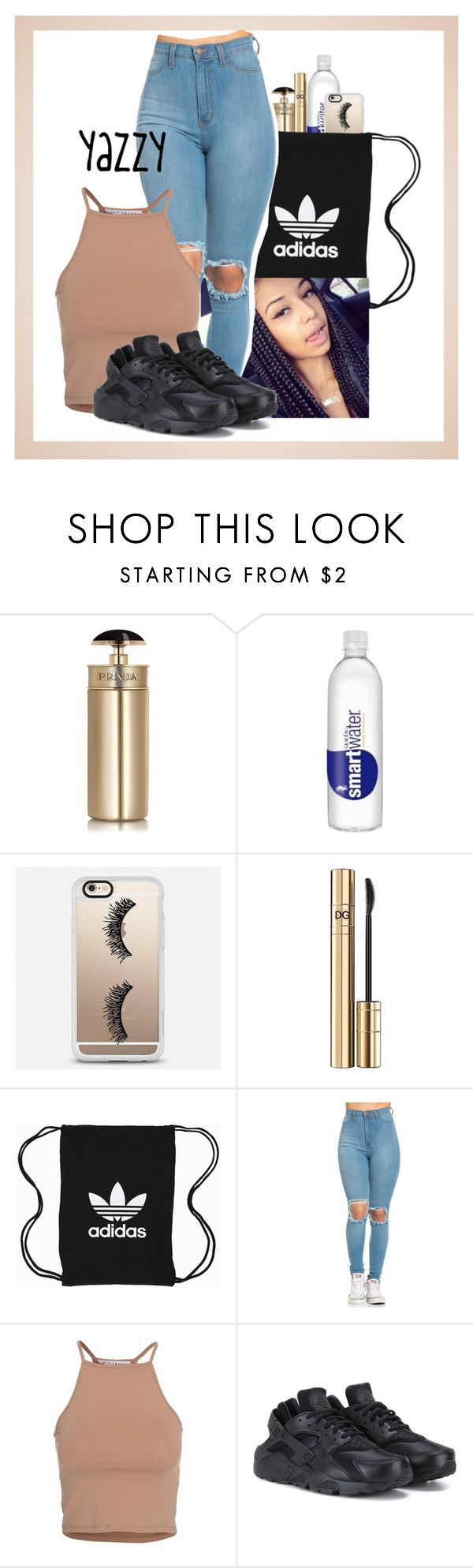 """""""Yazzy"""" by loveydovey-03 on Polyvore featuring Prada, Casetify, D&G, adidas Originals, NLY Trend and NIKE"""