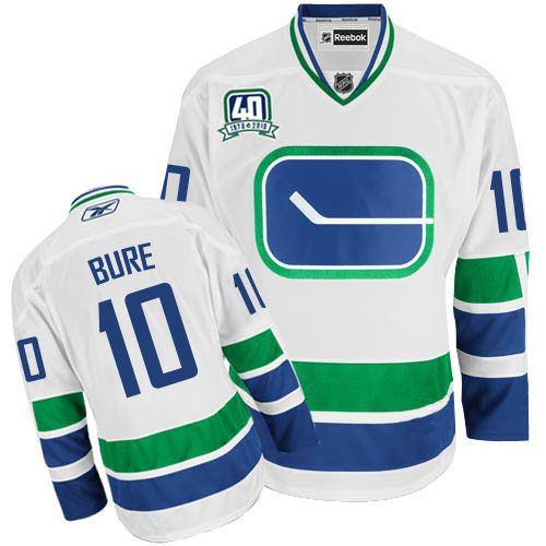 Vancouver Canucks 10 Pavel Bure 40th Anniversary Third Jersey - White