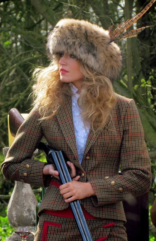 Holland Cooper tweed suit and  brimmed with Pheasant Tails. http://www.annabelchaffer.com/