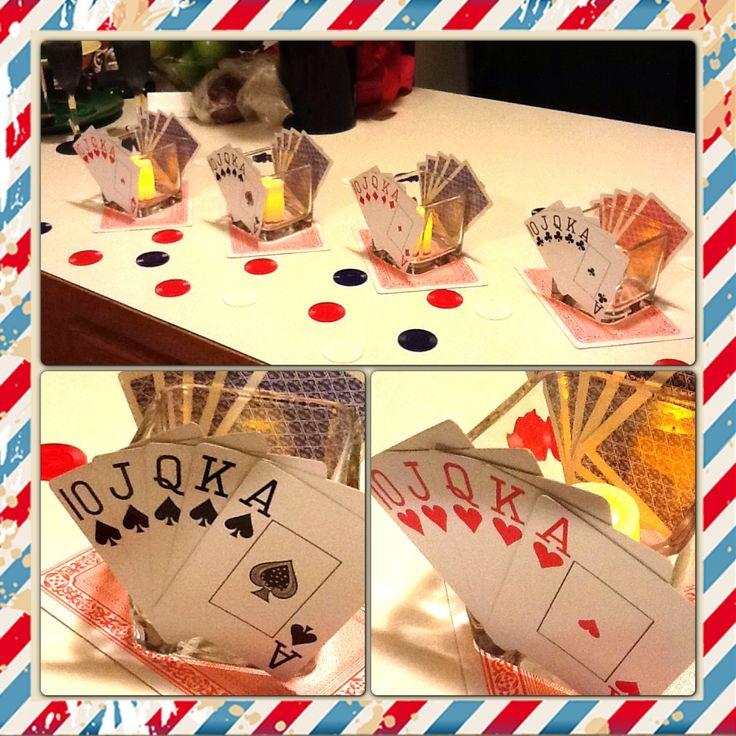 Poker Party Centerpiece's