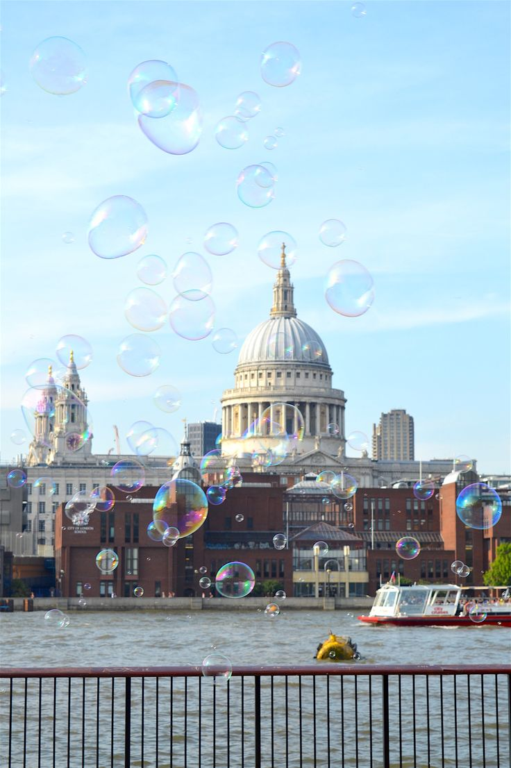 Saint Paul's Cathedral: Southbank, River Thames |  This is the beautiful Saint Paul's Cathedral captured from the Southbank of the River Thames. The cathedral is one of the most famous and most recognizable sights in London and its dome has been dominating London's skyline for 300 years.