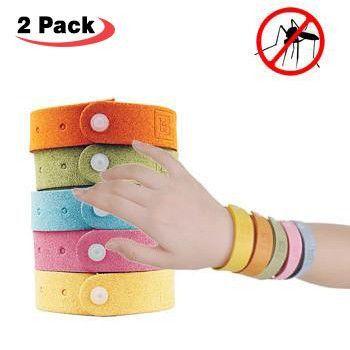 2 Pack - Mosquito Repellent Bracelets (Adjustable Strip for Adults & Kids)