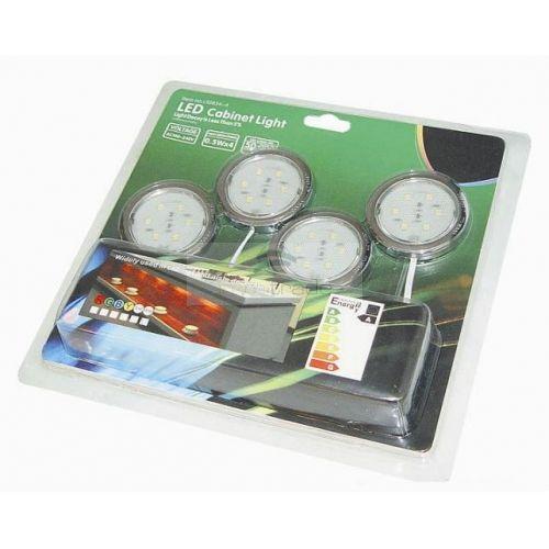 LED Cabinet Light SET (1W x4PCS, Lumen:70lm x4PCS, Input: 100V~240V AC, Output: 12V DC)